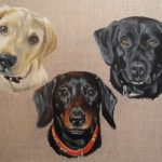 Dogs, painting, acrylics art