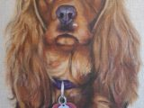 spaniel dog pastel painting portrait