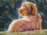 dog pastel