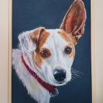 Dogs, Jack Russell, pastels