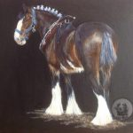 Acrylics, Horse, Shire,