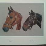 2 horse portrait equine acrylics