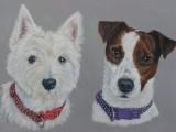 2 Dogs acrylics