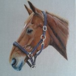 horse art painting acrylics